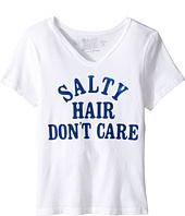 The Original Retro Brand Kids - Salty Hair Don't Care V-Neck Tee (Big Kids)