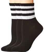 adidas - Originals Ankle 3-Stripe 3-Pack Quarter Socks