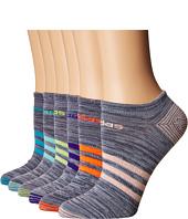 adidas - Superlite Mini Stripe 6-Pack No Show Socks