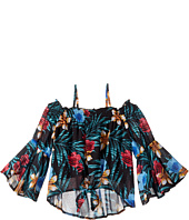 Ella Moss Girl - Gabby Peasant Printed Top (Big Kids)
