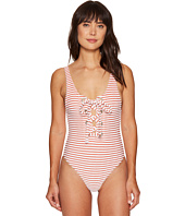Mara Hoffman - Jacquard Stripe Terry Lace-Up Maillot