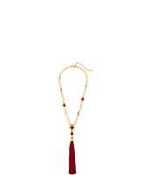 Oscar de la Renta - Crystal and Resin Tassel Pendant Necklace