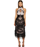 Marchesa - Tea Length Cokctail with Corded Lace and Chantilly