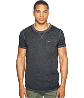 Scotch & Soda - Tee in Ausbrenner Quality with Uneven Bottom Hem