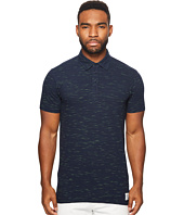 Scotch & Soda - Polo in Melange Pique Quality with Subtle Damagings