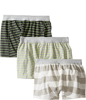 Toobydoo - Multi Green Underwear 3-Pack (Infant/Toddler/Little Kids/Big Kids)