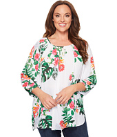 Vince Camuto Specialty Size - Plus Size Havana Tropical High-Low Hem Peasant Blouse