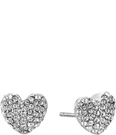 Michael Kors - Pave Hearts Tone and Crystal Heart Stud Earrings