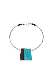 Robert Lee Morris - Semiprecious Stone Geometric Pendant Wire Collar Necklace
