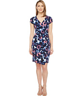 London Times - Woodstamp Daisy Side Ruched Dress