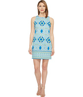 London Times - Oval Mosaic Tile Shift Dress