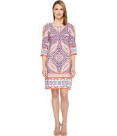 London Times - Matte Jersey Shift Dress