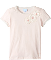 Lanvin Kids - Short Sleeve T-Shirt w/ Beaded Daisy Design On Front (Big Kids)