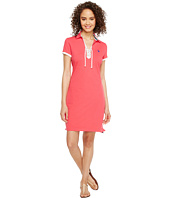 U.S. POLO ASSN. - Lace-Up Pique Polo Dress