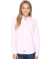 U.S. POLO ASSN. - Flower Print Poplin Long Sleeve Shirt