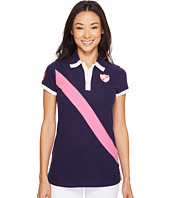 U.S. POLO ASSN. - Diagonal Sash Embellished Polo Shirt