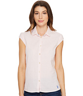 U.S. POLO ASSN. - Short Sleeve Seersucker Blouse