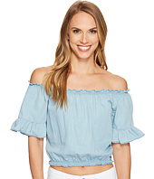 U.S. POLO ASSN. - Denim Off the Shoulder Crop Top