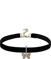 Betsey Johnson - Pave Butterfly Charm Choker Necklace