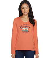 Life is Good - Happy Camper Long Sleeve Crusher Vee