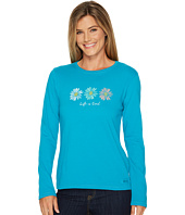 Life is Good - Three Daisies Painted Long Sleeve Crusher Tee