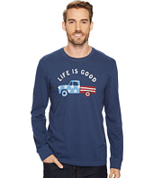 Life is Good - Flag Truck Long Sleeve Crusher Tee