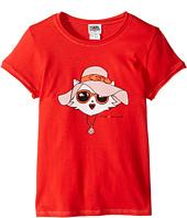 Karl Lagerfeld Kids - Short Sleeve Tee w/ Choupette Print & Gold Lurex Stitch (Little Kids)