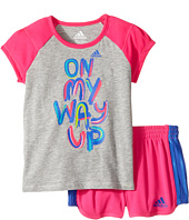 adidas Kids - On My Way Up Shorts Set (Infant)