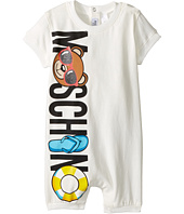 Moschino Kids - Graphic Logo Short Sleeve Romper in Gift Box (Infant)
