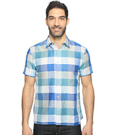 Perry Ellis - Short Sleeve Plaid Linen Shirt