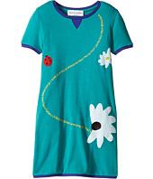 Sonia Rykiel Kids - Short Sleeve Dress w/ Flower Design On Front (Toddler/Little Kids)