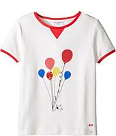Sonia Rykiel Kids - Short Sleeve Balloon Graphic T-Shirt w/ Contrast Trim (Big Kids)
