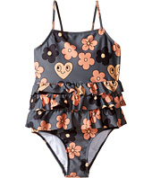 mini rodini - Flower Frill Swimsuit (Infant/Toddler/Little Kids/Big Kids)