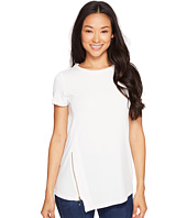 Ivanka Trump - Short Sleeve Matte Jersey with Zipper