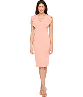 Ivanka Trump - Scuba Crepe Dress with Flutter Sleeves