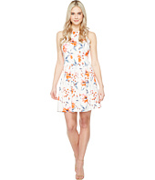 Ivanka Trump - Printed Scuba Dress with Release Pleats