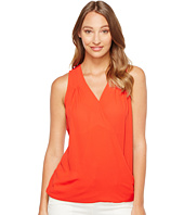 Ivanka Trump - Georgette Sleeveless Pleated Shoulder Blouse