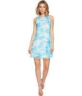 Calvin Klein - Blurred Print Trapiz Dress