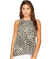 Vince Camuto Specialty Size - Petite Sleeveless Leopard Song High-Low Hem Blouse
