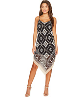 Vince Camuto Specialty Size - Petite Nairobi Graphic Handkerchief Tank Dress