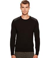 BELSTAFF - Kerrigan Merino Wool Paneled Crew Neck Sweater