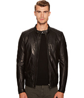 BELSTAFF - V Racer New Tumbled Leather Jacket