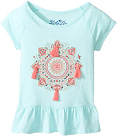 Lucky Brand Kids - Cap Sleeve Mandala Tee with Ruffle Hem (Toddler)