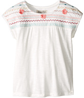Lucky Brand Kids - Embroidered Drop Shoulder Top (Little Kids)