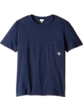 Paul Smith Junior - Short Sleeve Plain Tee with Pocket (Big Kids)