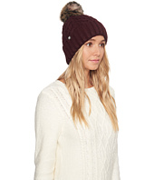 UGG - Textured Cuff Hat with Fur Pom