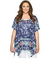 Nally & Millie - Plus Size Printed Floral Tunic