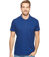 Agave Denim - Short Sleeve Polo Italian Pique in Cobalt