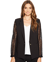XOXO - Lace Contrast Jacket w/ Welt Pockets