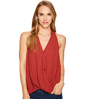 Stetson - 1073 Crepe Sleeveless Twist Front Top